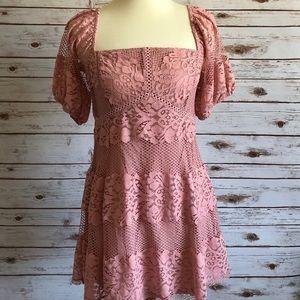 New! Women's Free People Lace Mini Dress. Size: M